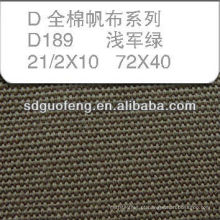 100% C 21/2 * 10 72 * 40 tecido de lona de algodão à prova d 'água da barraca