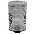 Fashion Printed Design Stainless Steel Foot Pedal Trash Bin