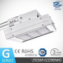 90 w Bridgelux Chips LED luz de calle con CE/RoHS, garantía 3 años