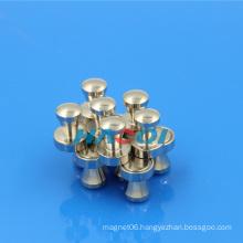 metal magnetic push pin office magnet