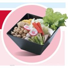 Tigela de salada de melamina quadrado / tigela de legumes / louça (qqbk4317)