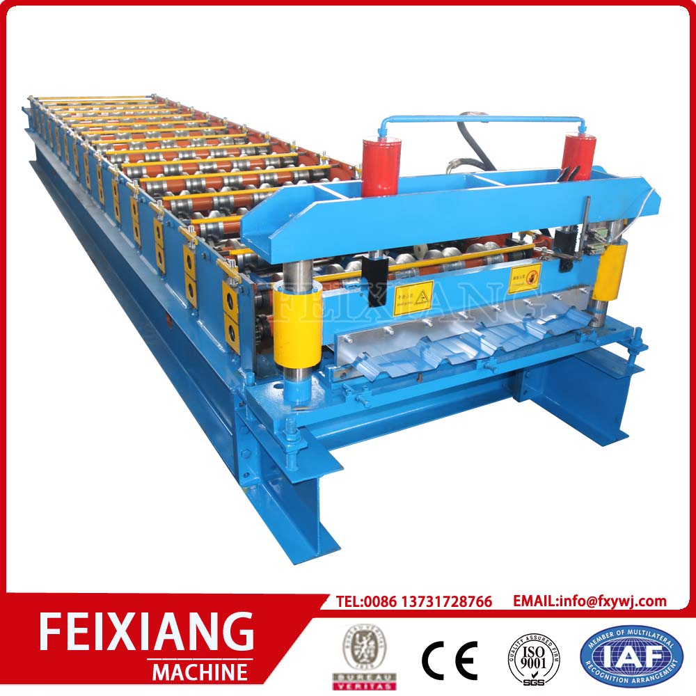 Metal roof sheet roll forming machine