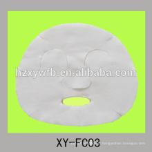 viscose non-tissé jetable ou bouclier facial de beauté de coton ou de fibre