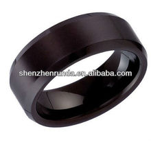 Men's Wedding Band Ring in Tungsten Black Blank