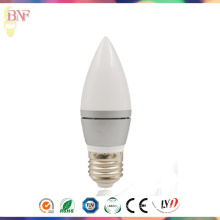 Silver C37 LED Candle Factory Bulb for New LED Products