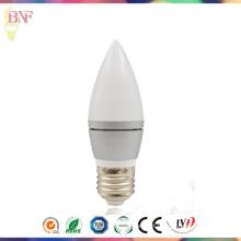 Bulbo de prata da fábrica da vela do diodo emissor de luz de C37 para produtos novos do diodo emissor de luz