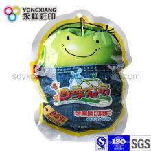 Getrocknete Apfelscheiben Plastikverpackung geformte Nahrungsmittelbeutel