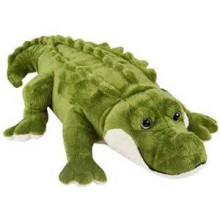 Gran tamaño verde de juguete de peluche cocodrilo