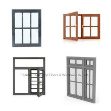 Fenêtres simples accrochantes anodisées adaptées aux besoins du client anodisées par aluminium (FT-W80)