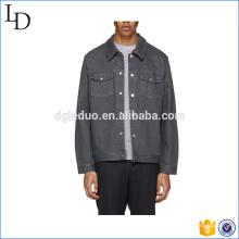 hommes veste en jean à manches longues bouton jusqu'à la robe de la veste pour les hommes