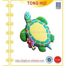 Llaveros de la tortuga del PVC 3D para requisitos particulares
