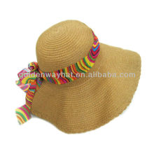 Chapéu de palha trançável de largura grande das senhoras