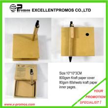 De moda reciclar bloc de notas pegajoso con la pluma (EP-M5262)