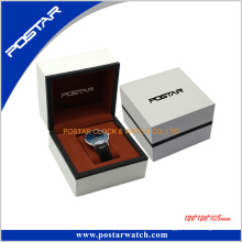 Elegance weißes Leder-Uhr-Kasten-Geschenk-Kasten