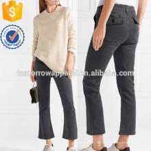 Cropped Stretch-Twill dünne Hosen Herstellung Großhandel Mode Frauen Bekleidung (TA3047P)