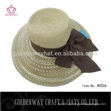 Dame Top Hüte Papier Stroh Floppy Hüte Party Hüte