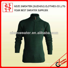 High collar half cardigan with zip fashion sweaters for men