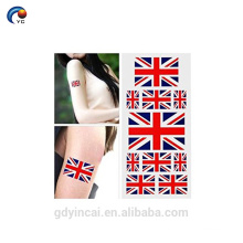 High quality with low price Customized Mexico temporary flag tattoo sticker series