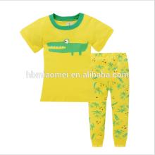 Ropa de algodón suave Ropa de dormir caliente Estilo lindo Pijamas estampados para niños