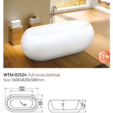 Ellipse Shap Acrylic Freestanding Bathtub