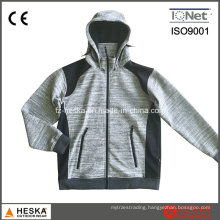 Mens Knitted Softshell Melange Fleece Jacket
