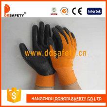 Оранжевый нейлона при черный Нитрил перчатки-Dnn340