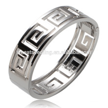 Nueva llegada que galvaniza el soporte hueco de plata del soporte el último brazalete de la joyería de la moda del diseño