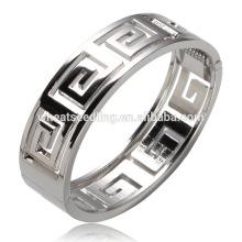 Nova chegada galvanização prata oca stand metal mais recente design vogue jóias pulseira