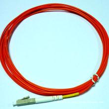 3 metros multimodo simplex LC pigtail de fibra óptica