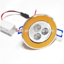 100-240v / AC AC220v 3w empotrable led downlight blanco frío