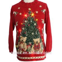 14STC8053 suéter de Natal feio com luz