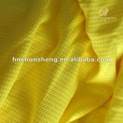 100% polyester yellow Mesh fabric for sportswear, car,tent, home textiles,etc