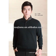 Luxury quality men's cashmere winter pullover