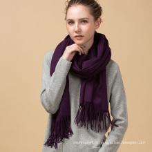 Горячий продавать рекламные теплая зима новое прибытие стиль фиолетовый цвет кашемир шарф