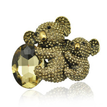Fashion Lovely Rhinestone Zinc Alloy Koala Brooch for Women