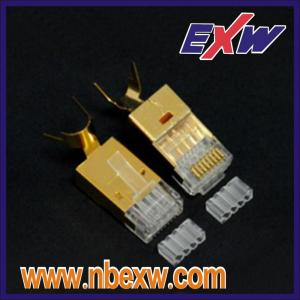 Cat6A STP Gold Plug