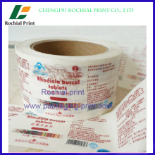 Factory price custom Advertising stickers roll label printing