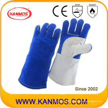 Anti-Hot Cowhide Leather Industrial Safety Welding Work Glove (11108)