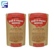 Customized for Kraft Paper Bag With Window Food Kraft Package Paper Packaging Bag export to Italy Importers