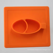 Food Grade Eco-Friendly Baby Silicone Dinner Plate