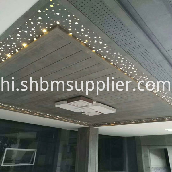 ceiling panel with fiber cement board