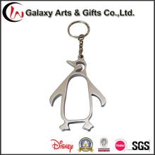 Llavero hueco personalizado del pingüino del metal sin logotipo