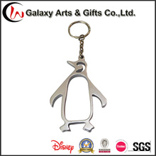 Pinguim oco do metal feito sob encomenda Keychain nenhum logotipo