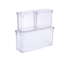 Transparente auslaufsichere Lebensmittelbehälter mit Deckel