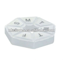 7 Tage Pillenbox in runder Form