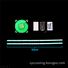 Ultra Silent Cooling Fan With LED Light Strip