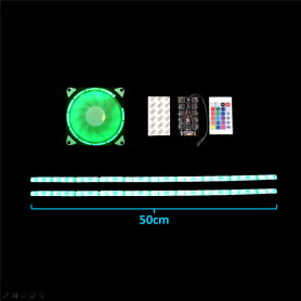 Dazzling Computer Water Cooling LED Fans