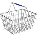 Supermarket Cosmetic Stores Golden Wire Shopping Basket