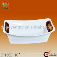 bandeja de horno de cerámica