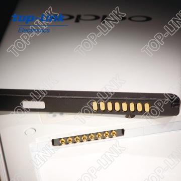 Federbelasteter Pogo Pin Stecker für Telefon Akku mit Schnellladung